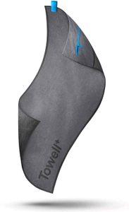 STRYVE Towell + Pro | extra langes Sporthandtuch 105 x 42,5 cm Iron Blue/Grey mit Tasche und Magnetclip, Bekannt aus Die Höhle der Löwen
