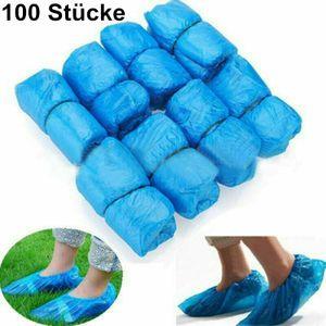 Miixia 100 Stücke Einweg Schuhüberzieher Einwegschuhe Überzieher Überschuhe Blau