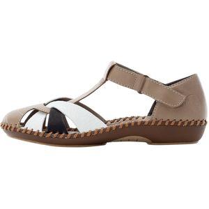 Rieker Damen Sandalen Sandaletten T-Steg M1668, Größe:39 EU, Farbe:Beige