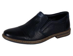 Rieker 13496-01 Schuhe Herren Halbschuhe Slipper , Größe:41 EU, Farbe:Schwarz