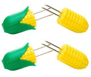 homiez 2er Pack Maiskolbenhalter PIXXI, Maishalter liegt gut in der Hand, gelb-grün, für 2 Maiskolben