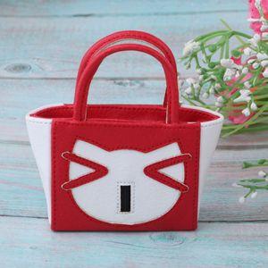 1 Stück 12-Zoll-Puppenhandtasche , Farbe rot