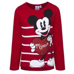 Disney Minnie Langarmshirt, rot, Gr. 98-128 Größe - 98