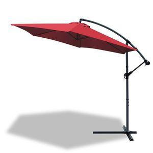 VOUNOT Ampelschirm mit Schutzhülle, Sonnenschirm 300 cm, Rot