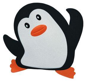 """Spirella Duschmatte Badematte Badewanneneinlage Anti Rutsch Pads """"Pinguin"""" - 5 Stück - antibakteriell rutschfest mit Saugnäpfen - ca. 13 x 12,5 cm"""