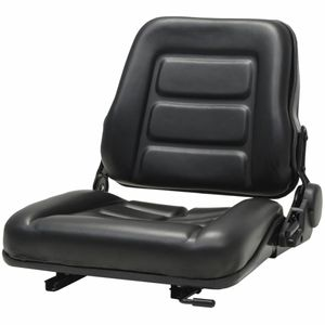 vidaXL Gabelstapler- und Traktorsitz Verstellbare Rückenlehne Schwarz