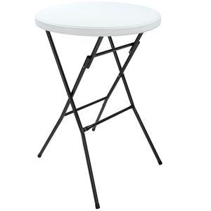 Casaria Stehtisch klappbar 110 cm aus Kunststoff - Bistrotisch Klapptisch Partystehtisch Partytisch Weiß