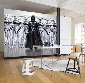 """Komar Fototapete """"Star Wars Imperial Force"""", schwarz/weiß, Darth Vader, Sturmtruppen, 368 x 254 cm"""