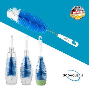 SodaClean® Premium Flaschenbürste - perfekte Flaschenreinigung für Sodastream Flaschen   Bürste Flaschenreiniger - Spülbürste   Glasbürste Kratzfrei Brush