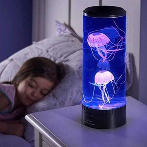 Duolm LED Traumquallen Licht, Desktop Runde Quallen Licht, Bunte Nachtlicht, Aquarium Aquarium Atmosphäre Licht, Für Die Dekoration@#
