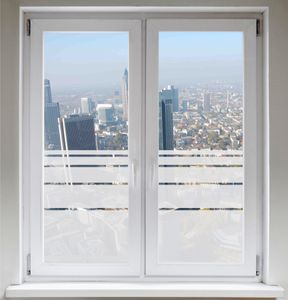 INDIGOS UG Sichtschutzfolie - Fensterfolie - Glasdekorfolie - Dynamische Streifen satiniert blickdicht ORACAL®- 600mm Breite x 500mm Höhe