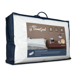 DormiGood |  Premium Daunendecke | 135x200 cm | Übergangsdecke | 100% Daunen (480g) | Bettdecke | 135x200 | Herbst | Frühling | Übergang | Nomite | Downpass