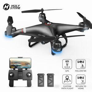 Holy Stone HS110G GPS Drohne mit 1080P 110° Kamera, Benutzerdefinierter Flugweg, Follow Me Funktion