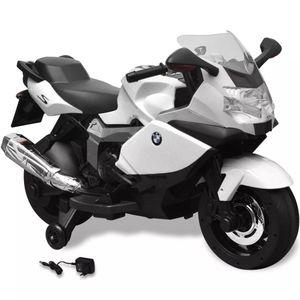 vidaXL BMW 283 Elektrisches Motorrad für Kinder Weiß 6V