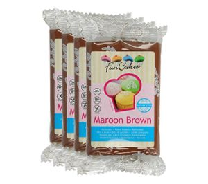 FunCakes Fondant Maroon Brown 4 x 250g