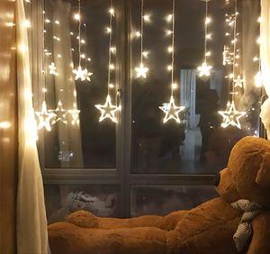 Lichtervorhang LED Lichterkette Streifen Lichternetz Tannenbaum Weihnachten Deko