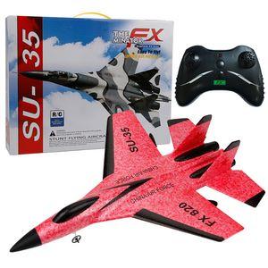 SU-35 RC ferngesteuertes Hubschrauber Flugzeug Segelflugzeug Flugzeug EPP Foam 3.5CH Toys SCY81019103RD