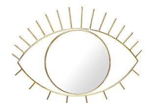 Doiy wandspiegel Cyclops 53 x 3 x 41 cm Glas/Metall Gold