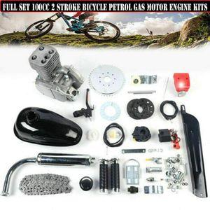 """2-Takt-Motor-Kit für Motorräder 100CC-Kit für Fahrradmotoren Motorisierte Motorräder 3.2 kW 100CC Gas Motor Benzin Bike Engine Kit CDI E-Bike Fahrrad Umbausatz 26"""" 28"""" Fahrräder"""
