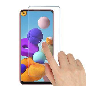 Samsung Galaxy A21s Panzerglas Schutz Folie + Schutzhülle Transparent Silikon Case