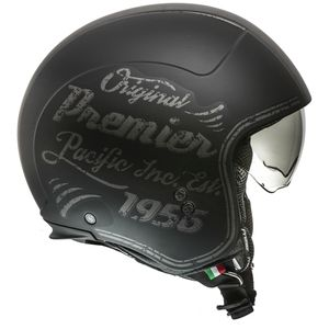 Premier Rocker OR 9 BM Jethelm matt-schwarz-grau :  M