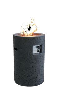 Gas Feuerstelle Merapi in Basaltoptik aus Faserbeton