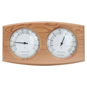 Mllaid Sauna-Thermometer,2-in-1 Holz-Thermo-Hygrometer Thermometer Hygrometer Saunazimmer Dampfbad Zubehör