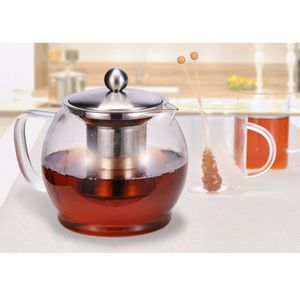 Teekanne Kaffeekanne Teebereiter Kanne Bereiter aus Glas mit Filter Teesieb 1,2L