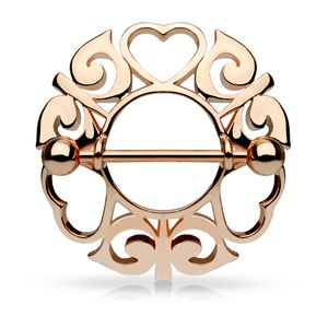Rosegold - Nipple Shield - Herzen Rosegold