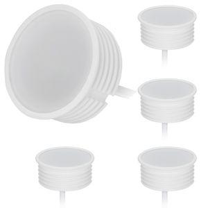 HCFEI 5x LED Modul FLAT Dimmbar 5W 230V 120° für GU10 Einbaustrahler, Warmweiß 3000K, Keramik Gehäuse