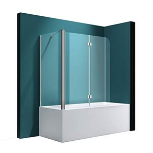 Mai & Mai Badewannenaufsatz C113L Faltwand 70 x 120 x 140 cm Klarglas 6 mm ESG-Sicherheitsglas