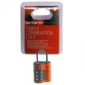 Samsonite Triple Combination Lock Orange Dots