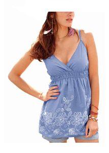 Aniston Blusentop m. Druck, blau Shirts und Tops Größe: 38