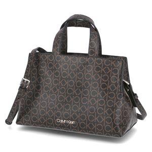 Calvin Klein Handtasche TOTE W/ZIP MD MONOGRAM Braun Damen