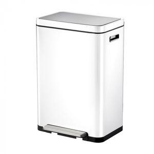 EKO X-Cubetret-Abfalltrenner 20+20 Liter Edelstahl weiß