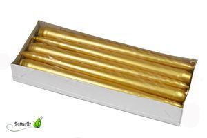 Spitzkerzen 24cm Gold, 10 Stück