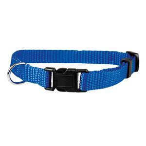 Welpenhalsbänder aus Nylon Hausumfang von 19 bis 32 cm 10mm breit Blau