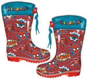 regenstiefel Spider-Man junior PVC rot/blau Größe 28