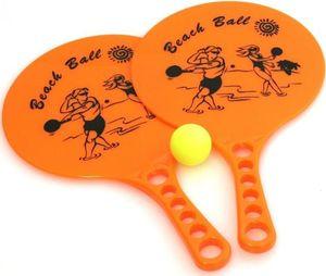 Bo Camp Beachball Set - Ball-Spiel Set mit 2 Kunstoffschlägern