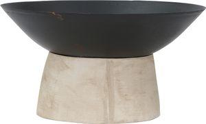Siena Garden 554511 Feuerschale Modern, Metall schwarz, Fuß aus Beton, Ø50xH27,5cm, einzeln kartonverpackt