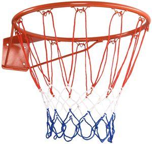 COSTWAY Ø 45 cm Basketballring mit Netz, Basketball Korb aus Stahlrahmen und wetterfestes Nylonnetz, Basketballkorb für drinnen und draußen