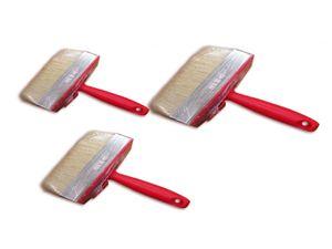 3x Flächenstreicher 3x12cm Pinsel Flach Malerpinsel Deckenbürste Maler