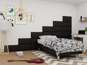 Mirjan24 Boxspringbett Lux für Wandpaneel, Einzelbett mit Matratze, Schlafzimmer (Farbe: Soft 011, Größe: 120x200 cm)