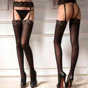 Frauen Sexy Dessous Spitze Top Strumpfband Gürtel Oberschenkel Strumpf Strumpfhosen