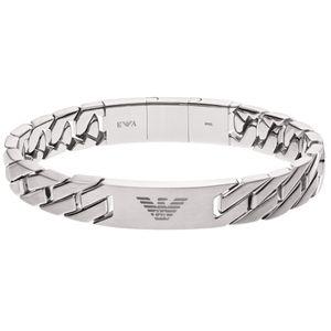 Emporio Armani EGS2435040 Herren Armband HERITAGE Silber 22 cm