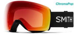 Smith Skyline XL OTG Skibrille Damen und Herren Snowboardbrille, Farbe:black, Glaswahl:chromapop photochromic red mirror