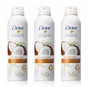 3x Dove Pflegegeheimnisse Body Lotion Spray Ritual mit Kokos- und Mandel 190ml