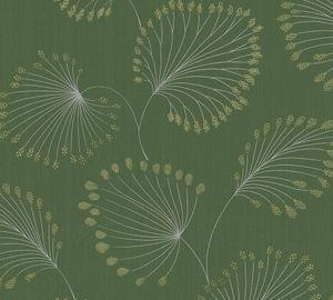 Architects Paper Vliestapete Alpha Ökotapete grün metallic 10,05 m x 0,53 m 333711 33371-1