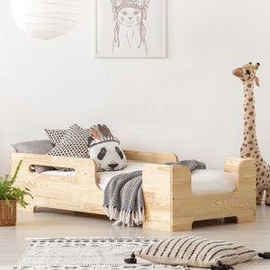 Selsey Kinderbett KERIBLY Jugendbett Massivholz Kiefer  mit Rausfallschutz und Lattenrost, 90 x 200 cm