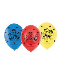 Nickelodeon ballons Paw Patrol 23 cm 6 Stück mehrfarbig